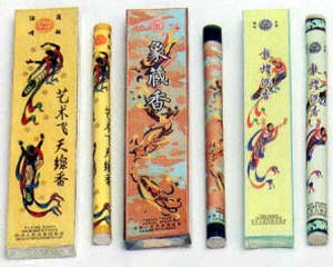 Chinese and Koren Incense Sticks